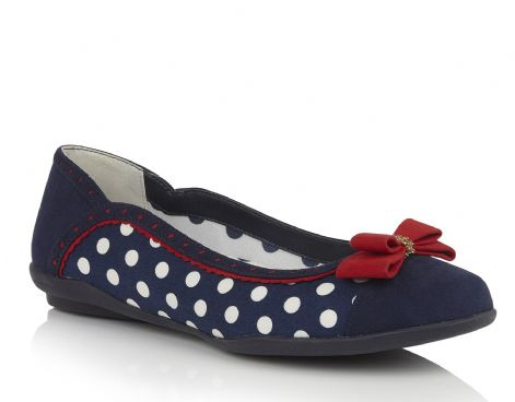 Ruby Shoo Lizzie Navy Spots Womens Shoes
